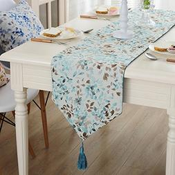 JYQ Coloured Leaves Rural Jacquard Weave Table Runners