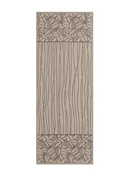 Heritage Lace LF-1436XB Leaf Lines Table Runner, Flax/Black,