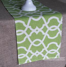 Lime Leaf Green Table Runner Dining Room Home Decor Lattice
