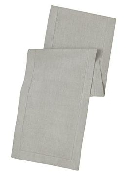 100% Linen Hemstitch Table Runner - Size 16x72 Charcoal - Ha