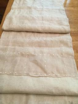 "Pottery Barn Linen Table Runner, 16"" X 108"" NWT"