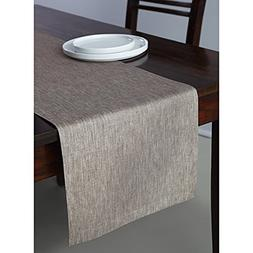 Solino Home 100% Pure Linen Table Runner Tesoro, 14 x 108 In