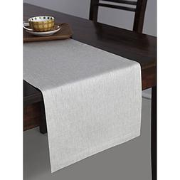 Solino Home 100% Pure Linen Table Runner Tesoro, 14 x 72 Inc