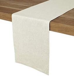 Solino Home 100% Pure Linen Table Runner – 14 x 36 Inch, T