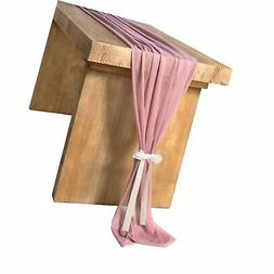 Ling's moment 32 x 120 inches Mauve/Dusty Rose Sheer Table R