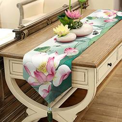 Lotus Table Runner Top Grade Velvety - MeMoreCool Fringes De
