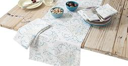 HomeCrate Luxurious French Perle Charm Collection Table Runn