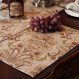 Luxury Damask Table Placemats  Set of 6