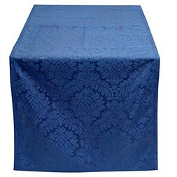 The White Petals Luxury Damask Table Runner  Perfect For Reg