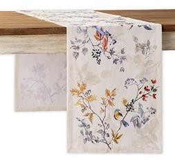 Maison d' Hermine Equinoxe 100% Cotton Beige Table Runner Si