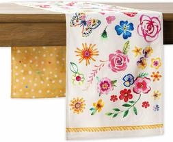Maison d' Hermine Happy Florals 100% Cotton Sweety Table Run
