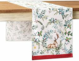 Maison d' Hermine Holly Time 100% Cotton Table Runner for Pa