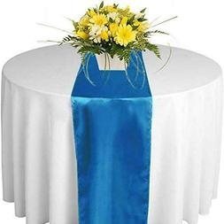 mds Pack of 1 Wedding 12 x 108 inch Satin Table Runner for W