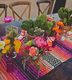 mexican falsa classic blanket table runner 70