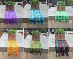"Mexican Rebozo Serape Aztec Table Runner 80"" by 14"".  Choose"