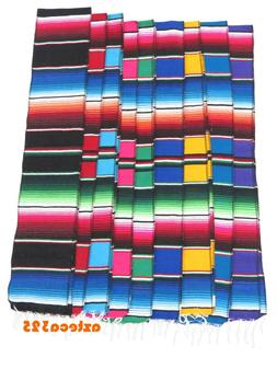 "Mexican Sarape 72"" x 7"" Table Runner Scarf"