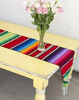 Del Mex  Mexican Serape Blanket Table Runner