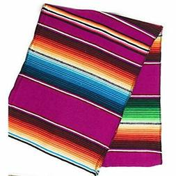 "Mexitems Mexican Serape Table Runner 84""x14"" Sarape Zarape B"