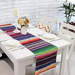 14 x 84 inch Mexican Table Runner for Mexican Party Decorati