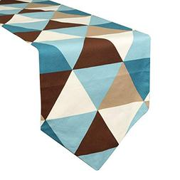 Uphome Modern Geometric Triangle Pattern Table Runner - Cott