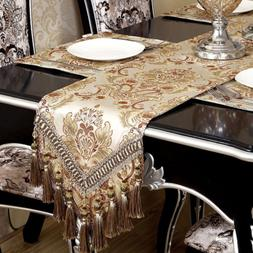 Modern Luxury Jacquard Fabric Floral Table Runners And Dress