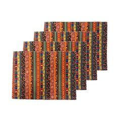 Aothpher Modern Rustic Striped Patterns Placemats Square Pla