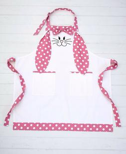 Mommy And Me Easter Bunny Rabbit Apron - Adult's Pink Polka