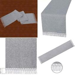 Grelucgo Multi-Tassels Solid Color Lined Table Runner Or Dre