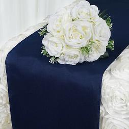 """Navy Blue POLYESTER 12x108"""" Table RUNNER Wedding Party Kitch"""