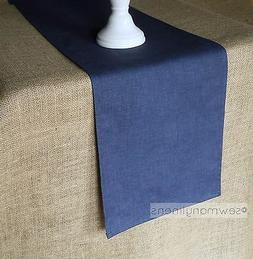 Navy Blue Table Runner Dining Kitchen Home Decor Nautical Co