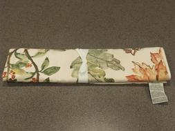 NEW 13PC Pottery Barn Watercolor Leaves Table Runner & 12 Na
