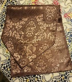 """NEW ♡  BEAUTIFUL BROWN  TABLE RUNNER ♡  12"""" X 72"""""""