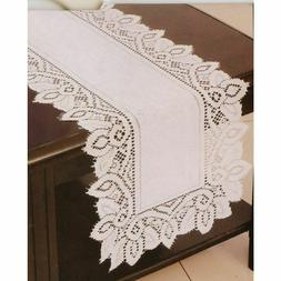 NEW Beige Cutwork Luxurious Lace Table Runner - Lace Runner
