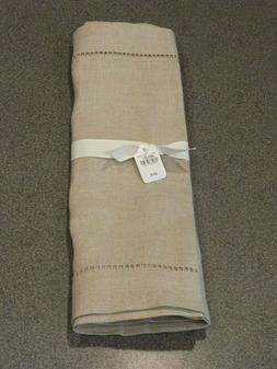 NEW Pottery Barn Belgian Flax Linen Hemstitch Table Runner -