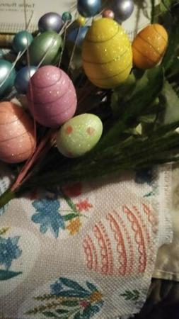 New Easter table runner with free set of Easter egg branches