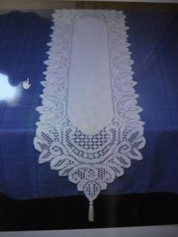 NEW HOME-X LACE TABLE RUNNER COLOR WHITE