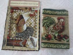 NEW! Rooster Table Runner Tapestry Design Country Farmhouse