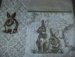 New Easter table runner with matching kitchen dining towel .
