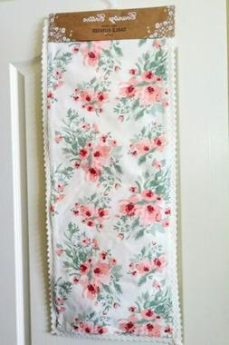 "NEW Threshold White Floral Table Runner - 72"" X 14"""