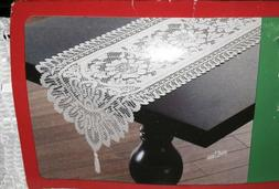 NEW White Lace Table Runner or Dresser Scarf Scalloped Edge