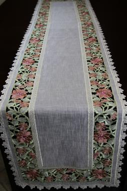 Organza Embroidered Lace Placemat Table Runner Dresser Scarf