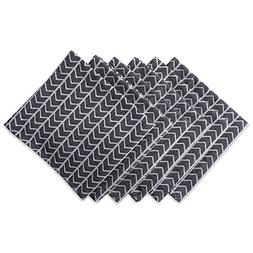 "DII Oversized 20x20"" Cotton Napkin, Pack of 6, Black and Whi"