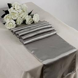 OWS Pack Of 10 Wedding 12 x 108 inch Satin Table Runner Wedd
