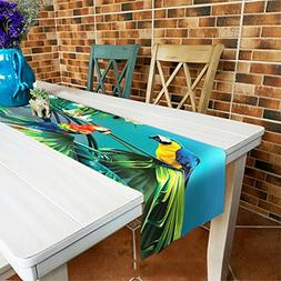Parrots Table Runner Top Grade Velvety - MeMoreCool Rectangl