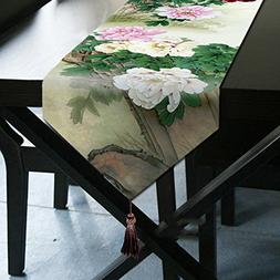 Peony Table Runner Top Grade Velvety - MeMoreCool Beautiful