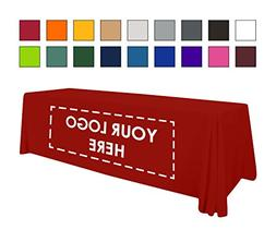 Personalized Add Your Own Logo Custom Tablecloth 8' Red Tabl