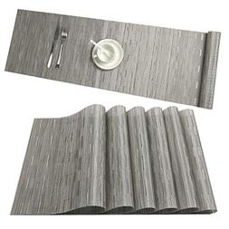 U'Artlines Placemat with Compatible Table Runner, Crossweave