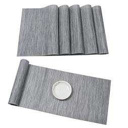 HEBE Placemat with Compatible Table Runner Set Crossweave In
