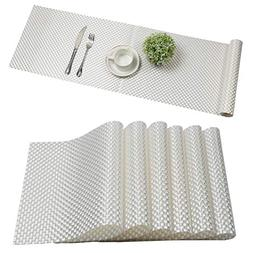 U'Artlines Placemat with Compatible Table Runner, Woven Viny