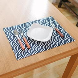MeMoreCool Placemats, 4 Pieces, Simple Geometry Patterns, Co